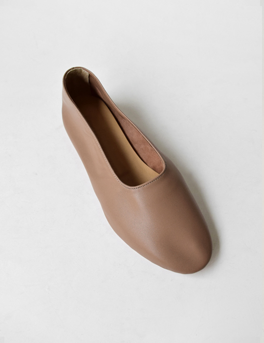 REAL-LEATHER FLAT SHOES (3COLOR)