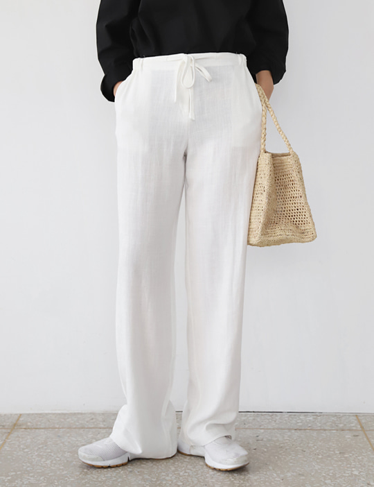 AND STRING LINEN PANTS (4COLOR)