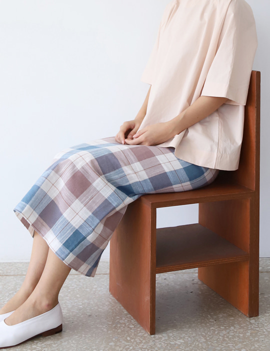 PASTEL CHECK SKIRT (2COLOR)