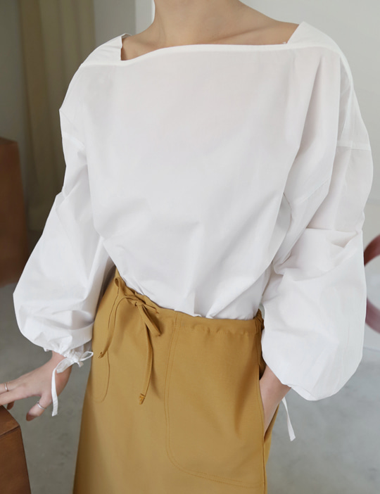 SQUARE BLOUSE (2COLOR)