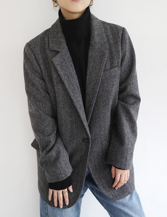 NEW HERRINGBONE JACKET (2COLOR)