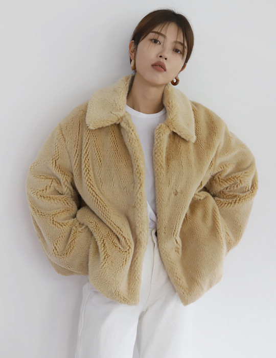 HONEYCOMB FUR JACKET (2COLOR)