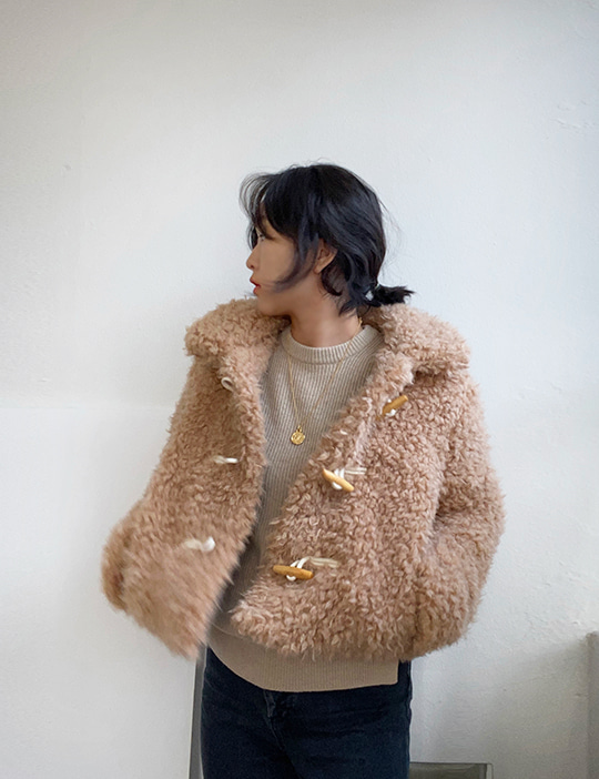 TOGGLE FUR JACKET