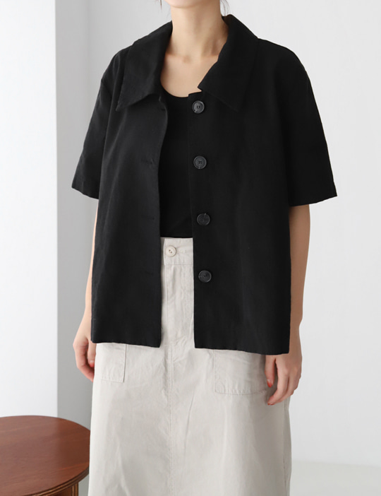 LOOK LINEN HALF JACKET (2COLOR)