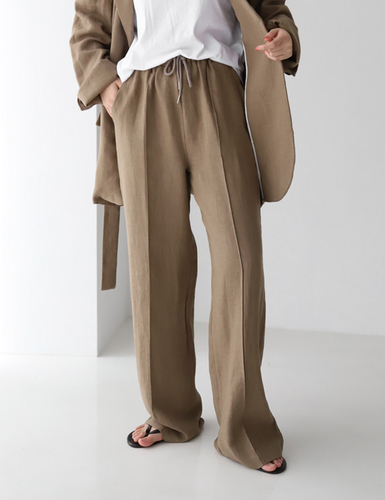 AWESOME LINEN BANDING PANTS (3COLOR)