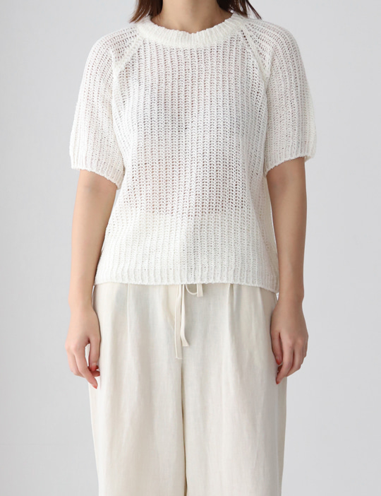 NET ROUND HALF KNIT (4COLOR)
