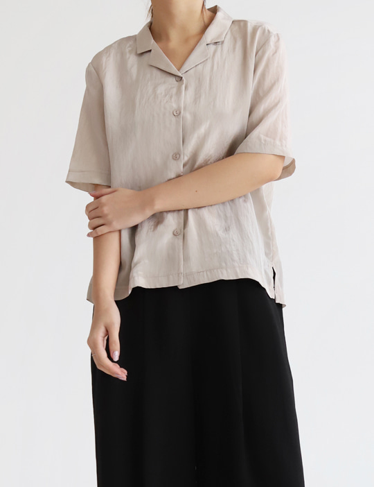 TWINKLE HALF-SLEEVE BLOUSE (4COLOR)